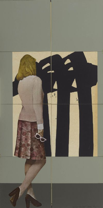Woman and Soulages by Robert Ballagh  at de Veres Auctions
