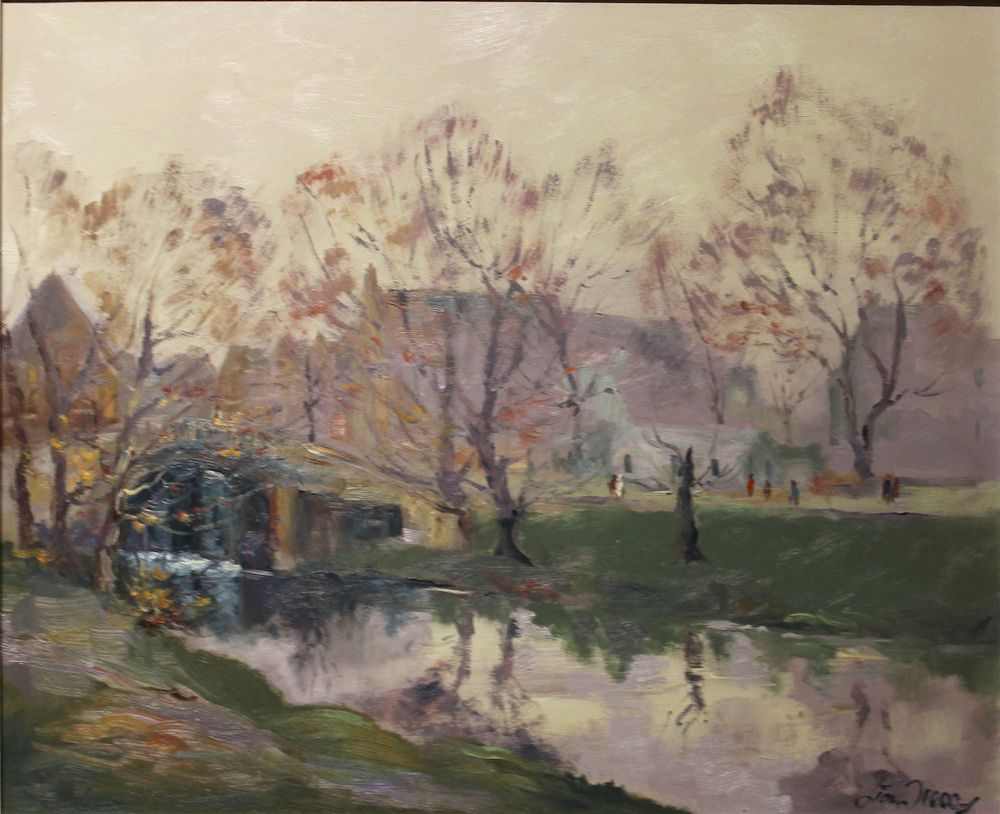 Near Lesson Street Bridge by Liam Treacy sold for €650 at de Veres Auctions