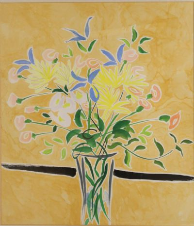SPRING FLOWERS WITH YELLOW OCHRE by Nicholas Hely Hutchinson  at deVeres Auctions