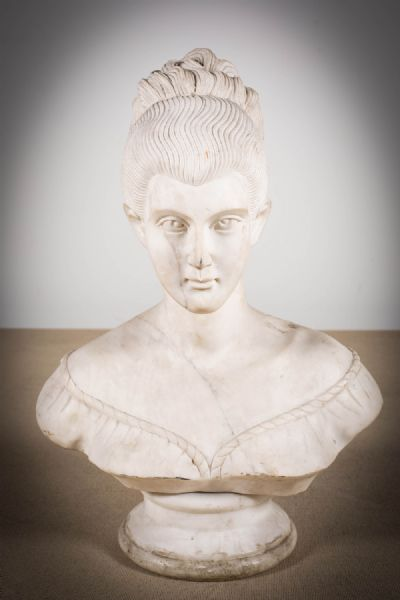 A MARBLE MODEL OF WOMAN at deVeres Auctions