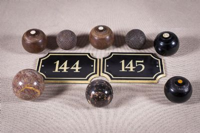 A SET OF NINE VINTAGE EBONY at deVeres Auctions
