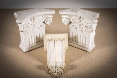 TWO PLASTER MODELS OF A ROMAN CAPITAL at deVeres Auctions