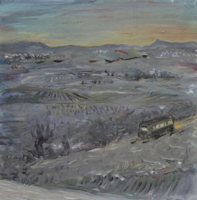 SCHOOL BUS, EVENING by Eithne Jordan  at deVeres Auctions