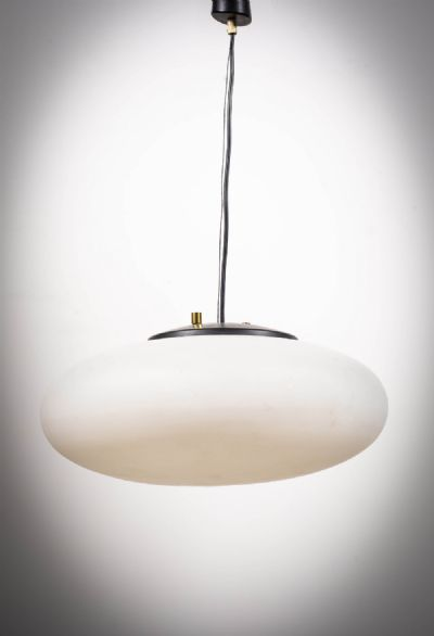 A GLASS PENDANT LIGHT, ITALIAN at deVeres Auctions