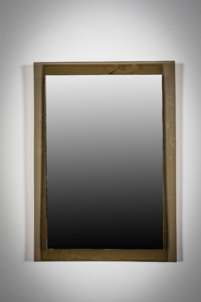 AN ITALIAN TWO TONE WALL MIRROR at deVeres Auctions