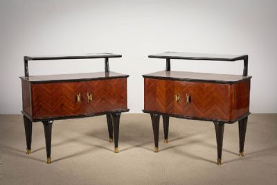 A PAIR OF ROSEWOOD BEDSIDE CABINETS at deVeres Auctions