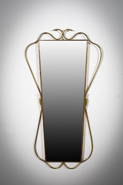 A BRASS WALL MIRROR at deVeres Auctions