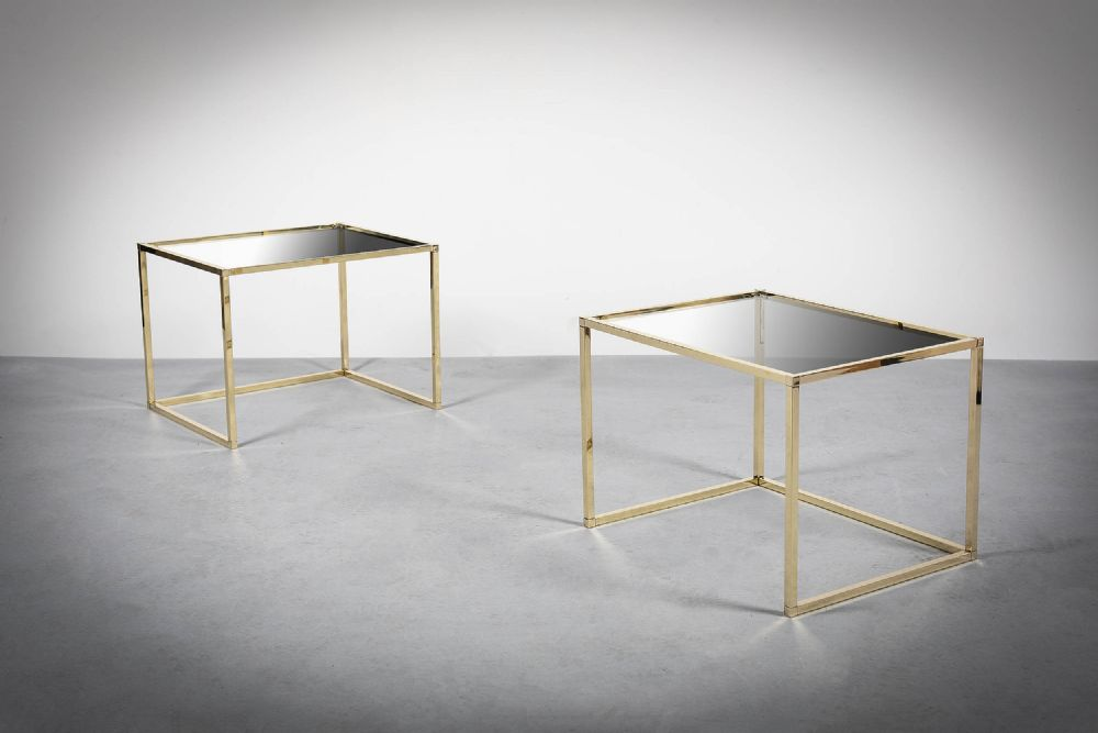 A PAIR OF GILT SIDE TABLES