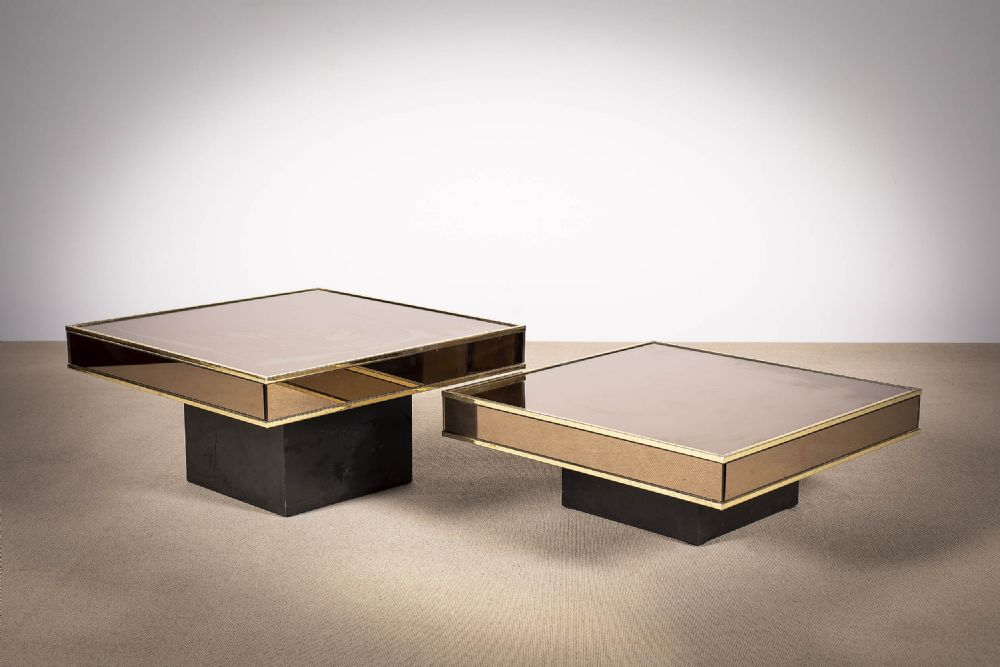TWO SQUARE LOW TABLES