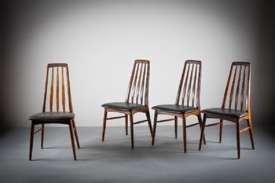 A SET OF FOUR ROSEWOOD EVA CHAIRS by NIELS KOEFOED  at deVeres Auctions