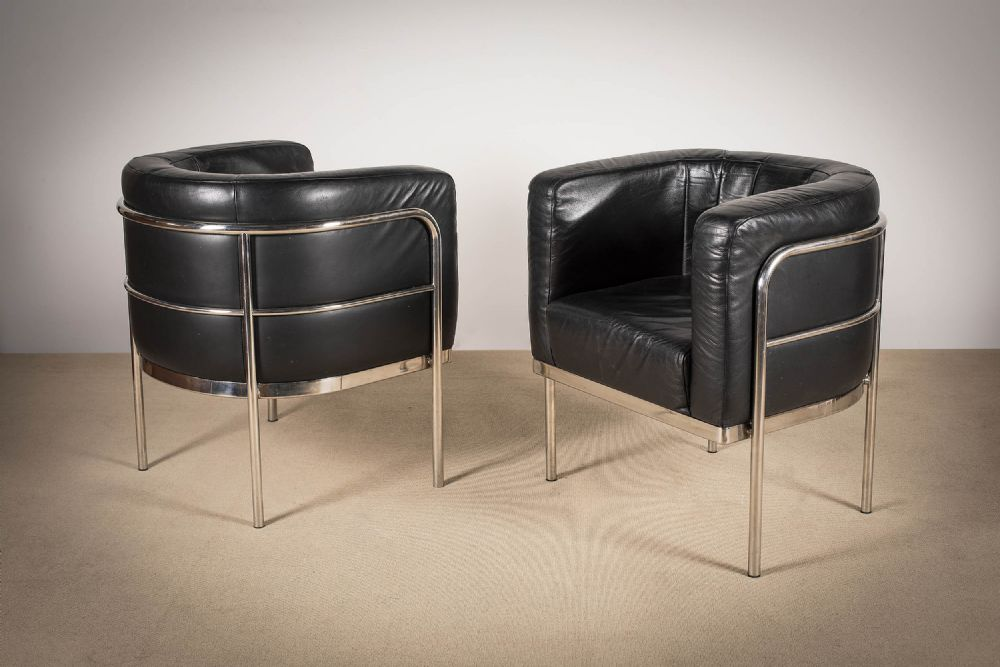 A PAIR OF TUB CHAIRS, ITALIAN