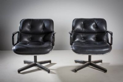 A PAIR OF EXECUTIVE CHAIRS, FRENCH, 1970s at deVeres Auctions