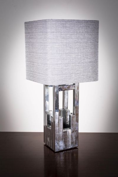 A CHROME TABLE LAMP at deVeres Auctions