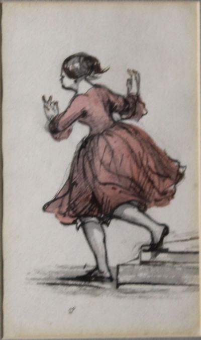 19th CENTURY FIGURES STUDY by Robert French  at de Veres Auctions