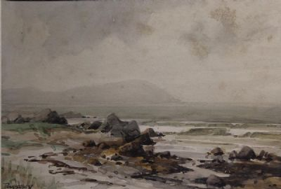COASTAL LANDSCAPE by Frank McKelvey  at de Veres Auctions