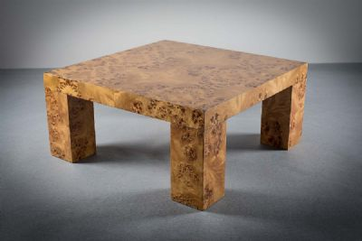 BURR MAPLE LOW TABLE at de Veres Auctions