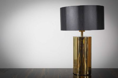 FACETED TABLE LAMP at de Veres Auctions