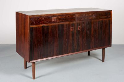 A DANISH ROSEWOOD SIDE CABINET at de Veres Auctions