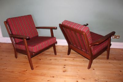 A PAIR OF DANISH EASY CHAIRS at de Veres Auctions