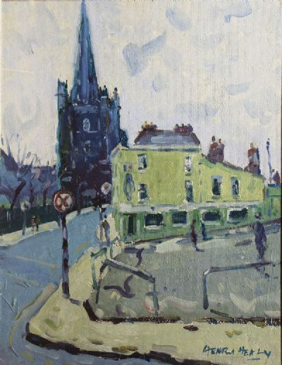 ST PATRICKS CATHEDERAL by Henry Healy  at de Veres Auctions