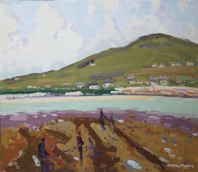 DOOEGA, ACHILL ISLAND by Henry Healy RHA  at de Veres Auctions