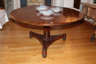 A GEORGE IV DINING TABLE at de Veres Auctions