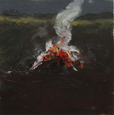BONFIRE STUDY II by Michael Gemmell b.1950  at de Veres Auctions