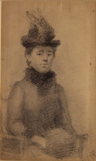 STUDY OF A LADY by Sarah Purser HRHA 1848-1943  at de Veres Auctions