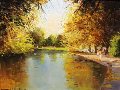 ST STEPHENS GREEN, DUBLIN by Norman J McCaig  at de Veres Auctions