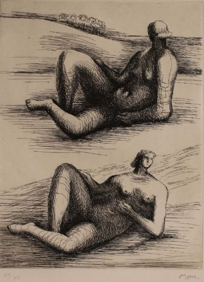 FIGURES RECLINING by Henry Moore  at de Veres Auctions