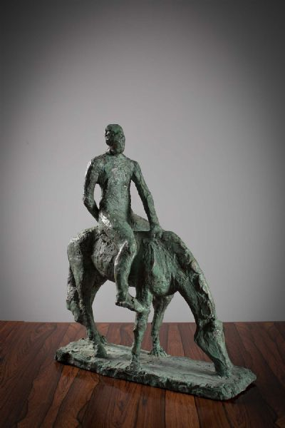 HORSE AND RIDER by Oisin Kelly RHA at deVeres Auctions