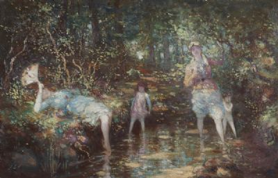 EVENING PADDLE by George Russell, AE  at deVeres Auctions
