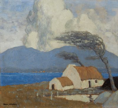 ACHILL COTTAGE, LOUGH CORRIB by Paul Henry  at deVeres Auctions