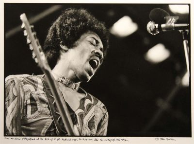 JIMI HENDRIX, ISLE OF WIGHT FESTIVAL 1971 by John Minihan  at deVeres Auctions