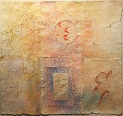 ABSTRACT WITH JAMES JOYCE by Vivienne Bogan  at deVeres Auctions