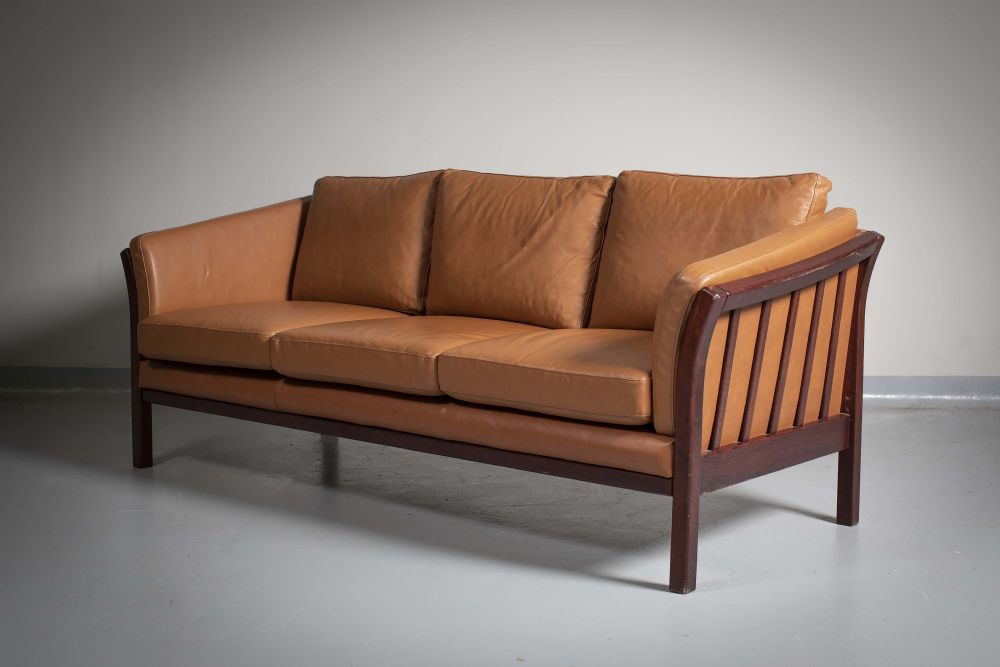 Lot 15 - A Danish Leather Sofa by Danish