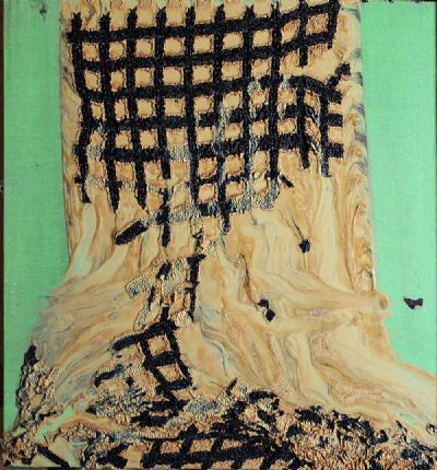 PAINTING ON GREEN GROUND by Alexis Harding  at deVeres Auctions