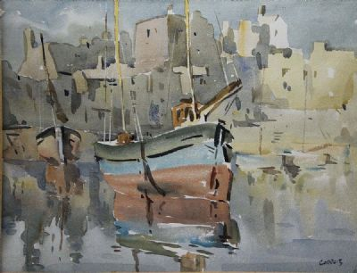 ROUNDSTONE HARBOUR by Desmond Carrick  at deVeres Auctions
