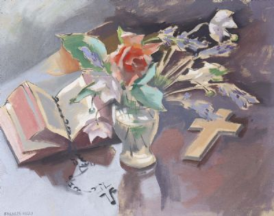 STILL LIFE WITH CROSS by Frances Kelly  at deVeres Auctions