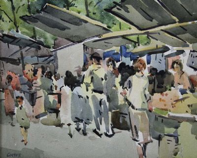 FRENCH MARKET by Desmond Carrick  at deVeres Auctions