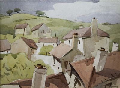 ROOFTOPS by Desmond Carrick  at deVeres Auctions