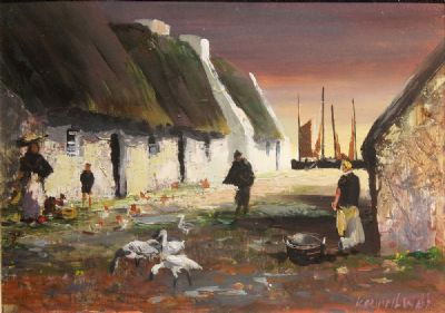 CLADDAGH MEMORY by Kenneth Webb  at deVeres Auctions