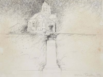 CHURCH SCENE by Michael Farrell  at deVeres Auctions