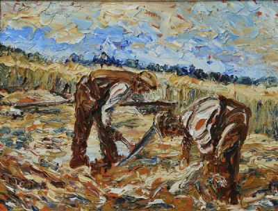 THE REAPERS by Liam O'Neill  at deVeres Auctions