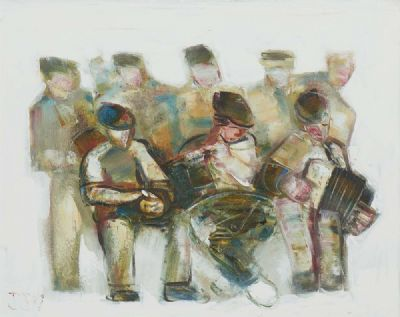 MUSICIANS & LISTENERS by John B. Vallely  at deVeres Auctions