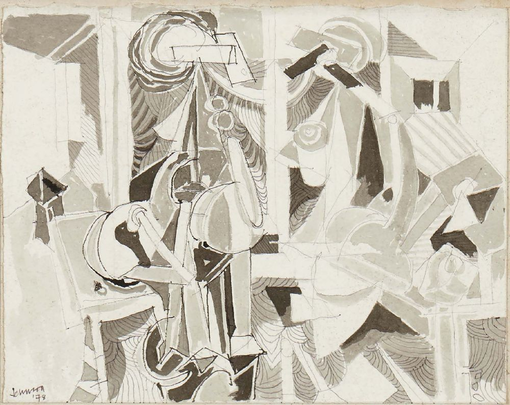Lot 19 - FIGURES IN A ROOM by Nevill Johnson