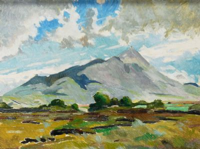 CROAGH PATRICK, CO MAYO by Kitty Wilmer O'Brien  at deVeres Auctions