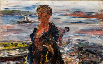KERRY FISHERMAN - FENIT LIGHTHOUSE (1927) by Jack Butler Yeats  at deVeres Auctions