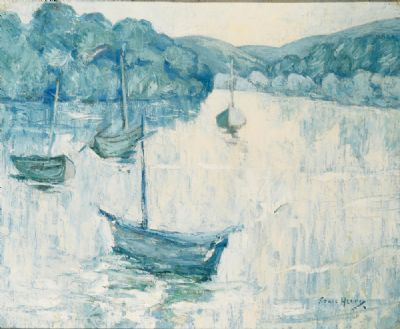 BOATS ON A RIVER by Grace Henry  at deVeres Auctions