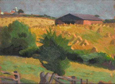 A CORNFIELD, SUFFOLK by William John Leech  at deVeres Auctions